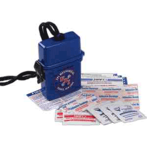 Boating First Aid Kit, Key fob, azprecisiongraphics, beach container, bandages, antiseptic, atibiotic ointment, floating container